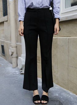 crop wide slacks